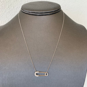 Diamond and Gold Safety Pin Pendant, Ben Dannie Design