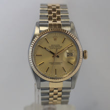 Load image into Gallery viewer, Rolex Mens Two Tone Steel and Gold Datejust 16013