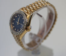 Load image into Gallery viewer, Rolex Ladies President Blue Diamond