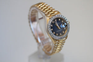 Rolex Ladies President Blue Diamond