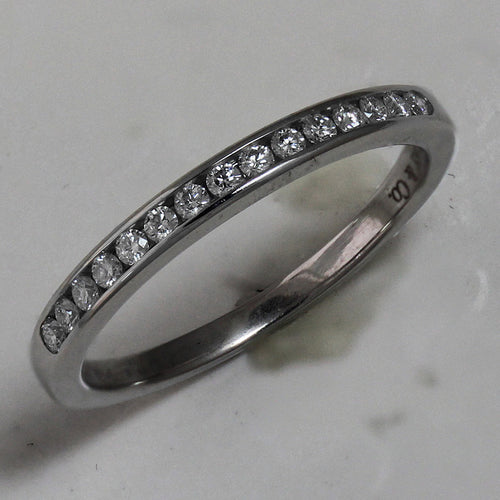 Tiffany Chanel Set Diamond Band 2mm