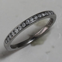 Load image into Gallery viewer, Tiffany Chanel Set Diamond Band 2mm