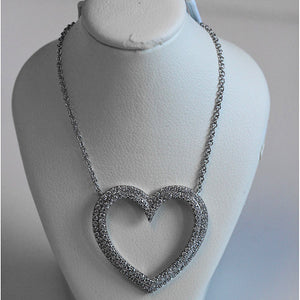 Tiffany Metro Heart Diamond Necklace