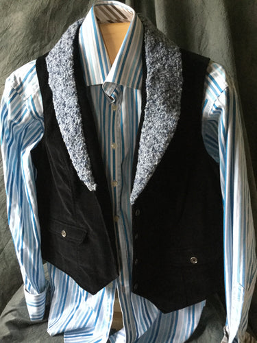 Ladies black corduroy vest