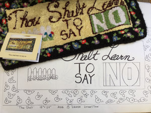 Thou Shalt Learn wall hanging pattern