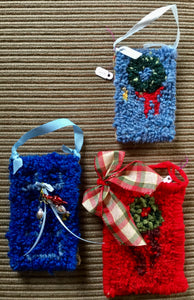 Christmas Ornaments - Doors pattern (set of 3)