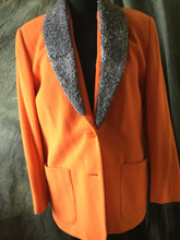 Ladies apricot wool blazer