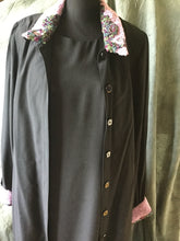 Ladies black coat dress