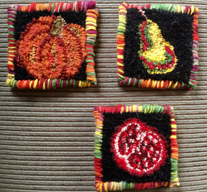 Fall Harvest Coasters pattern (set of 4)