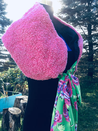 Pink chenille wrap