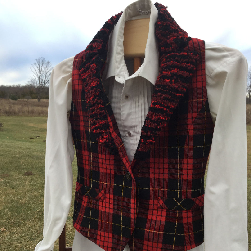 Ladies small tartan vest