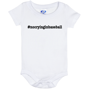 No Crying in Baseball Baby Onesie 6 Month