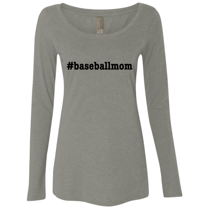 Baseball Mom Triblend LS Scoop