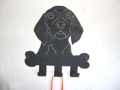 Dog leash hanger
