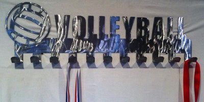 Volleyball Medal Display hooks