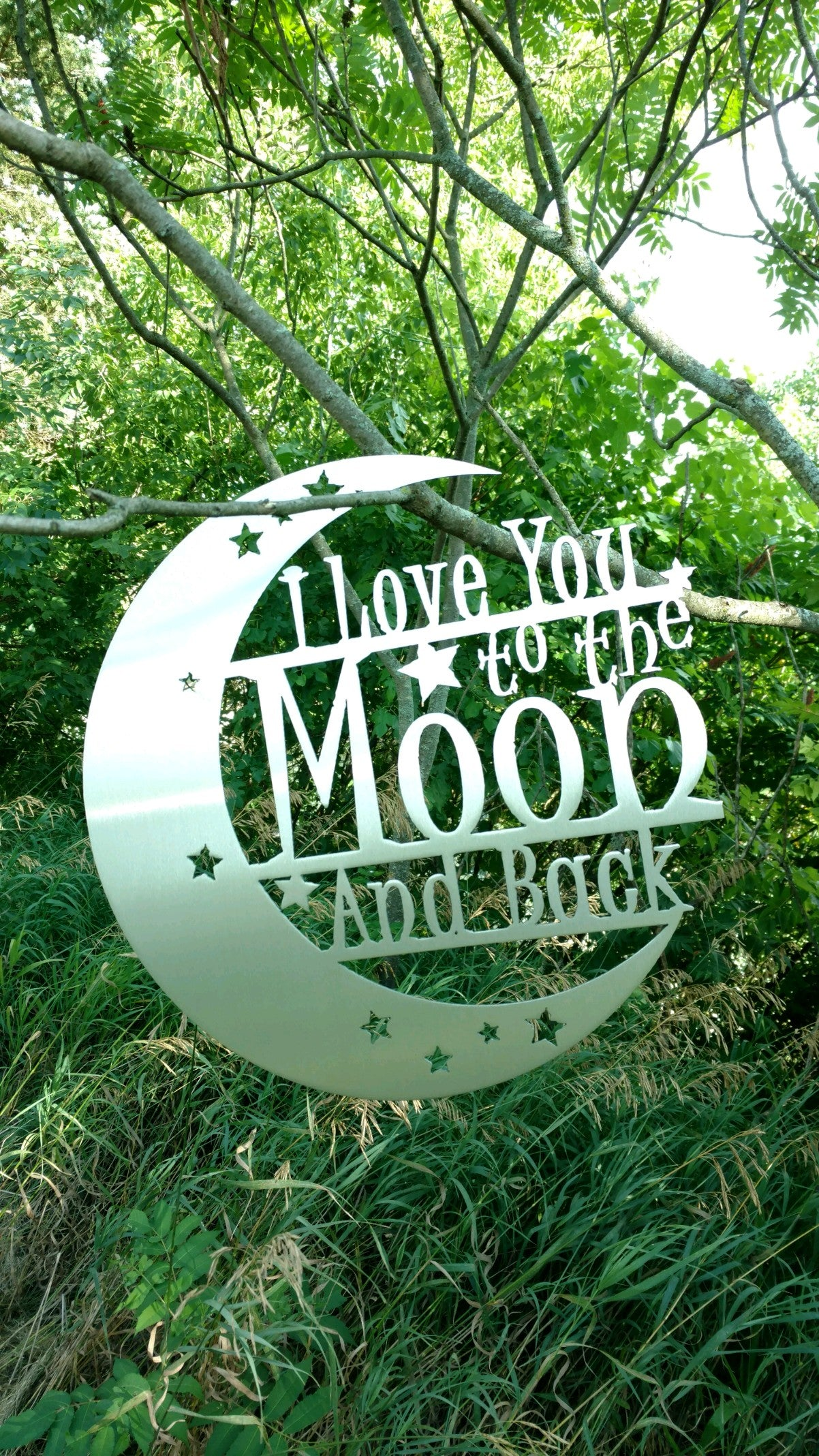 I Love You To The Moon & Back Metal Decor