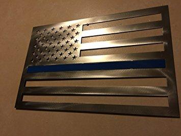BLUE LINE STEEL RECTANGLE FLAG