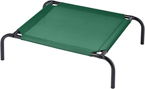 Cooling Elevated Pet Bed, Extra Small (28 x 21 x 7 Inches), Green