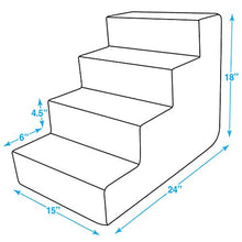 Pet Steps/Stairs with CertiPUR-US Certified Foam for Dogs & Cats