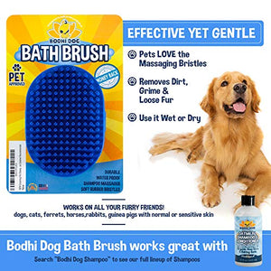 Bodhi Dog Pet Shampoo Brush | Soothing Massage Rubber Bristles Curry Comb for Washing Dogs & Cats