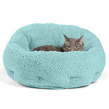 "Deep Dish Cuddler (20x20x12"") - Self-Warming Cat and Dog Bed, Teal"