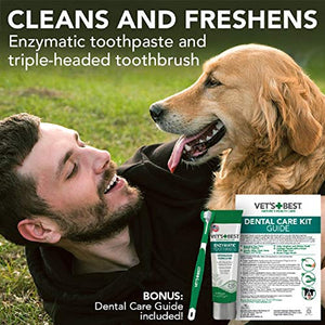 Vet's Best Dog Toothbrush and Enzymatic Toothpaste Set
