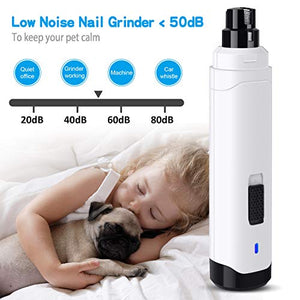 Professional 2-Speed Electric Rechargeable Pet Nail Trimmer