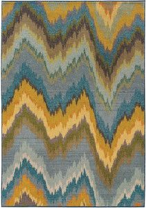 Pet Friendly Kaleidoscope 8020g Rug oriental weavers