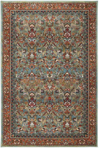 Pet Friendly Spice Market Tigris Aquamarine Rug stain resistant dog cat urine proof area rug online traditional karastan