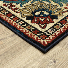 Ankara is a collection of immaculately-patterned and richly-colored, dense, polypropylene-pile area rugs. They are power-loomed with a cross-weaving technique, which offers unique depth of color and the vintage appeal of a hand-knotted piece. The jewel tone shades of sapphire and ruby are perfection in the historically rich, Persian-influenced designs.