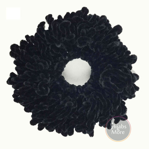 BLACK Volumizing Scrunchie - BLACK VOLUME Scrunchies - Hijab Store Online Canada - Free Shipping