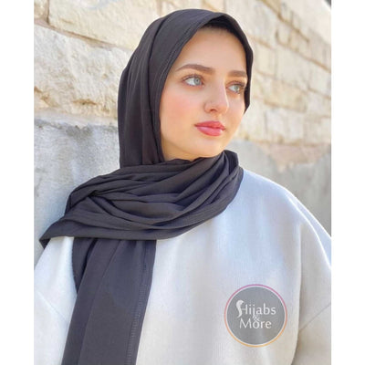 BLACK LUXURY Ribbed Jersey - Muslim Women Scarves - Ribbed Jersey Hijabs - Online Hijab Store