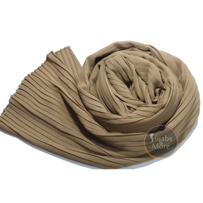 BEIGE Pleated Chiffon