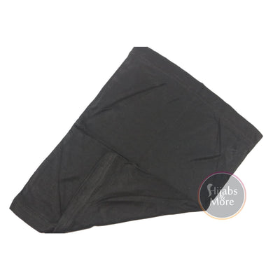 BLACK Cotton Underscarf (Hijab Cap)