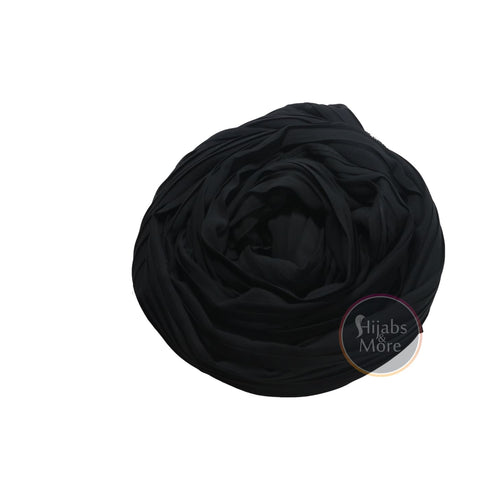 BLACK Pleated Chiffon