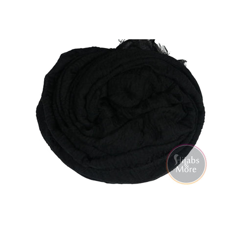 BLACK Ripple Cotton - Hijabs