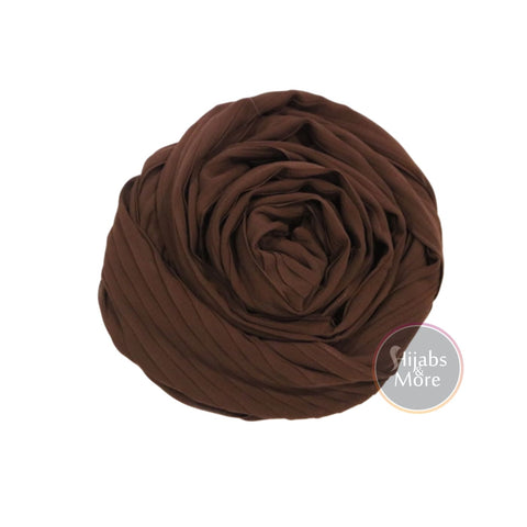 BROWN Pleated Chiffon