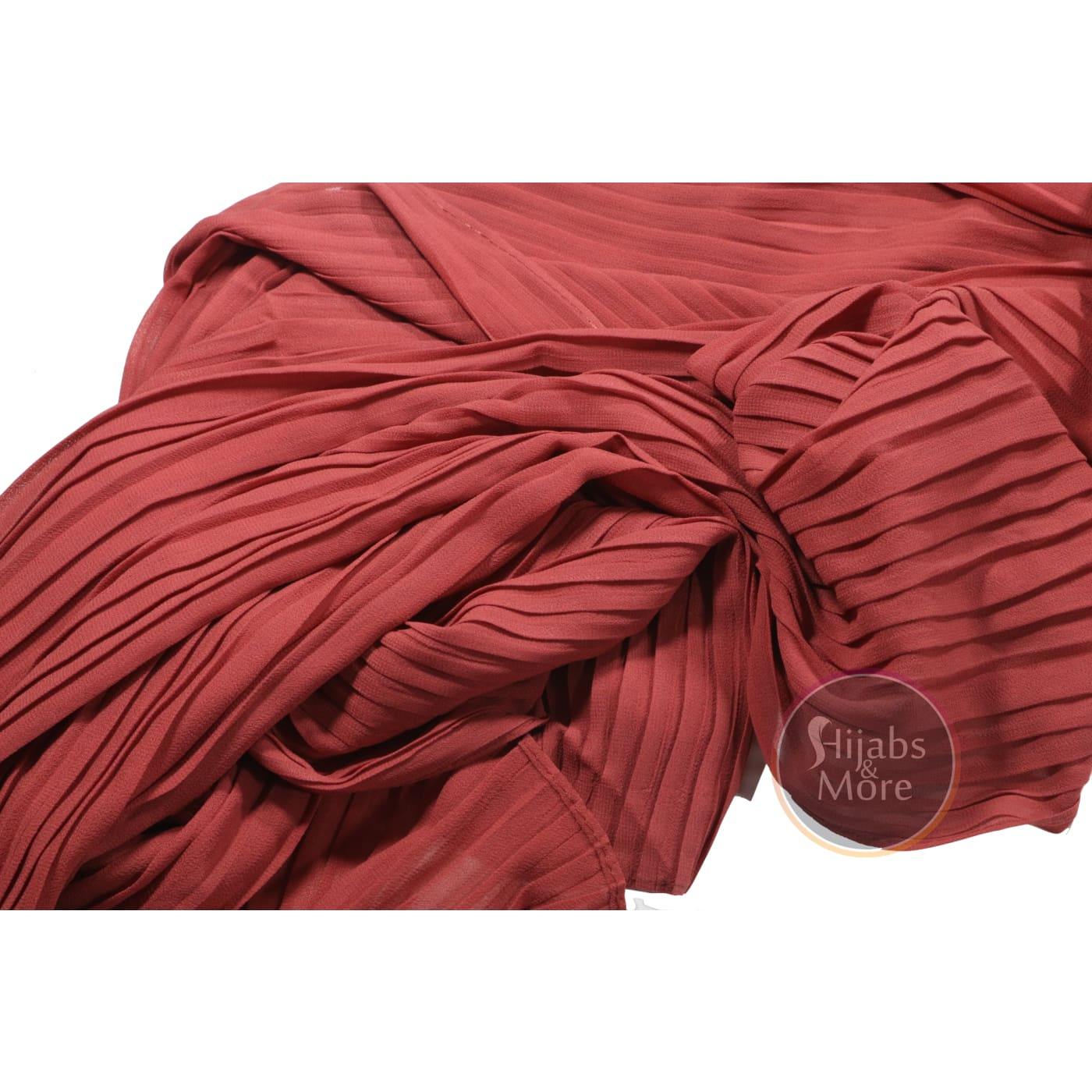 CORAL Pleated Chiffon