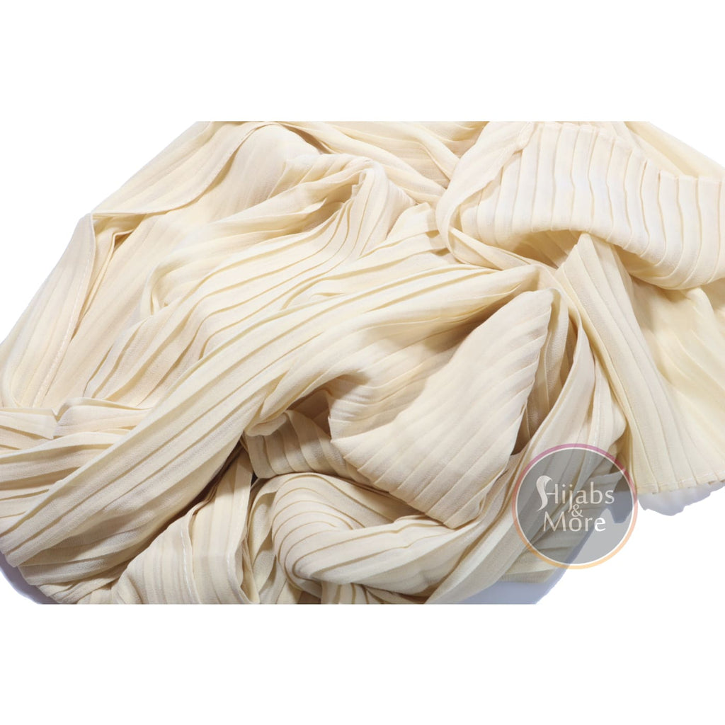 CREAM Pleated Chiffon