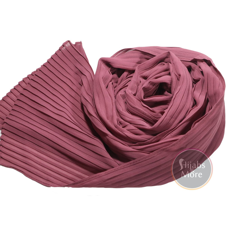 DARK PINK Pleated Chiffon