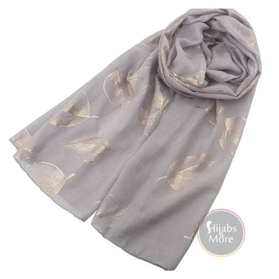 GREY Pattern Hijab