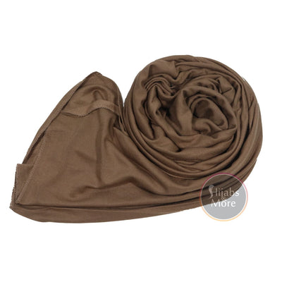 LIGHT BROWN Premium Jersey - Hijabs