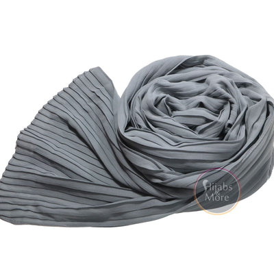 GREY Pleated Chiffon