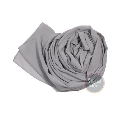 LIGHT GREY Premium Chiffon