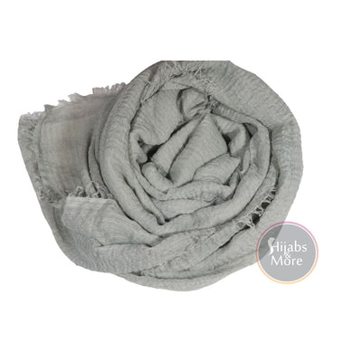 LIGHT GREY Ripple Cotton - Hijabs