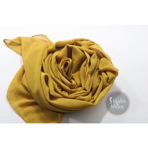 LIGHT YELLOW Premium Chiffon