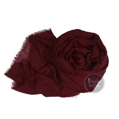 MAROON Ripple Cotton - Hijabs