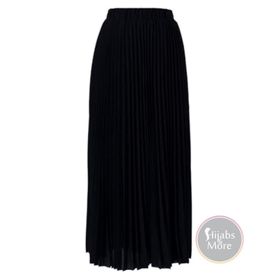 Modest Pleated Skirts - Small / Black - Skirts