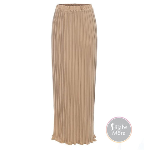 Modest Pleated Skirts - Small / Nude Pink - Skirts