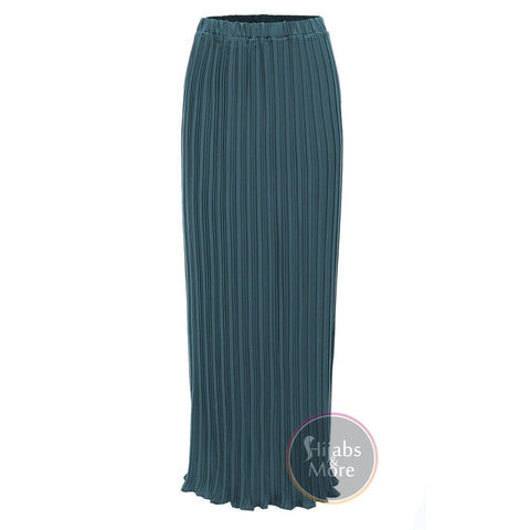 Modest Pleated Skirts - Small / Teal - Skirts